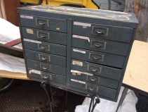 INDUSTRIAL SMALL PARTS CABINET