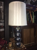 MID CENTURY CHROME LAMP