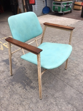 MID CENTURY MODERN TEAL CHAIR
