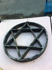 CAST IRON STAR OF DAVID FROM 1910 SYNAGOGUE