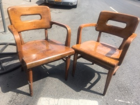 GUNLOCK WOOD CHAIRS