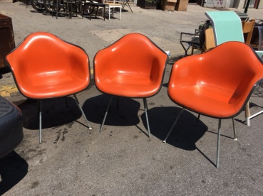HERMAN MILLER SHELL ARM CHAIRS