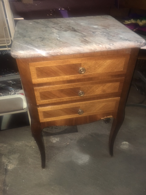 MARBLE TOP SMALL TABLE