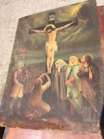 METAL JESUS PAINTING