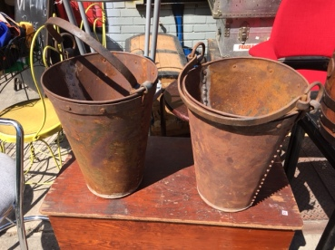 ANTIQUE FORGED METAL BUCKETS