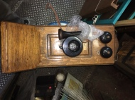 ANTIQUE WIND UP PHONE