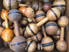 ANTIQUE WOOD WEIGHTS