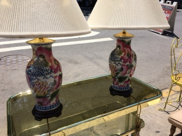 HAND PAINTED ORIENTAL LAMPS
