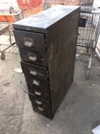 INDUSTRIAL METAL CARD CABINET