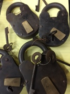 LARGE ANTIQUE PADLOCKS