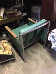 MID CENTURY TEAL CHAIR BACK