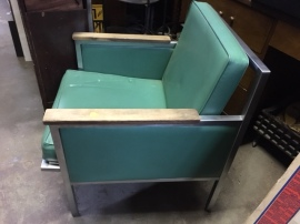 MID CENTURY TEAL CHAIR