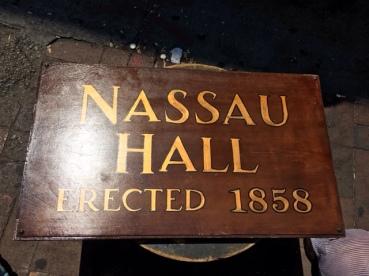 NASSAU HALL SIGN