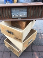 WOOD BOXES AND RADIO