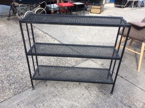WROUGHT IRON SHELF UNIT