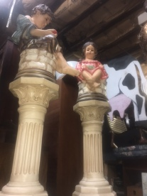 ANTIQUE CERAMIC BOY&GIRL