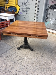 BUTCHER BLOCK TABLE CLOSED