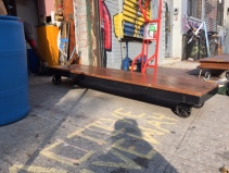 LONG COFFEE TABLE CART