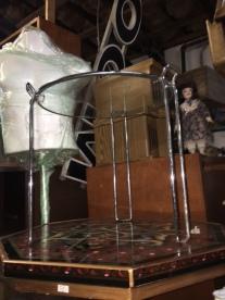 MID CENTURY MODERN GLASS TABLE