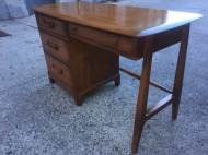 MID CENTURY MODERN SOLID WOOD DESK 2
