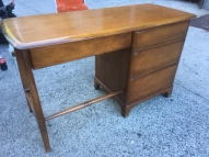 MID CENTURY MODERN SOLID WOOD DESK BACK