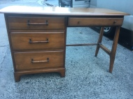 MID CENTURY MODERN SOLID WOOD DESK