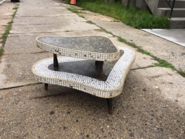 MID CENTURY TILE COFFEE TABLE