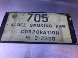 PORCELAIN METAL SMOKING SIGN