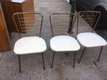 3 MID CENTURY WIRE CHAIRS