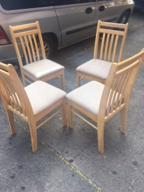 4 WOOD CHAIRS