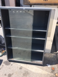 COLE METAL CABINET GLASS FRONT