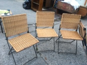 FOLDING WICKER OUTDOOR CHAIRS