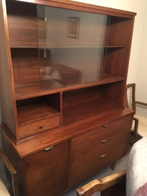 MID CENTURY MODERN CABINET AND CREDENZA