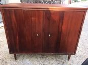 MID CENTURY MODERN RECORD CABINET $200 - 2