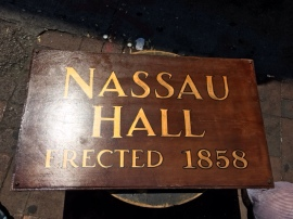 NASSAU HALL SIGN