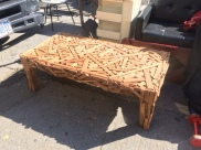 WOOD BLOCK COFFEE TABLE