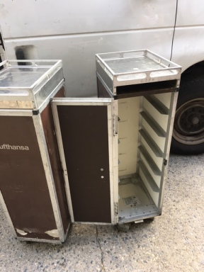 AIRLINE MEAL CARTS OPEN