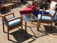 BLUE MID CENTURY CHAIRS