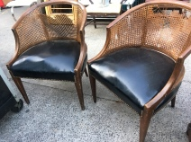 CANE LEATHER CHAIRS