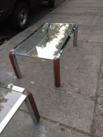 CHROME MID CENTURY COFFEE TABLE