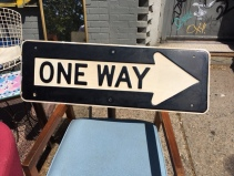 EMBOSSED ONE WAY SIGN