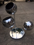 MID CENTURY CHROME BALL CEILING FIXTURE 2