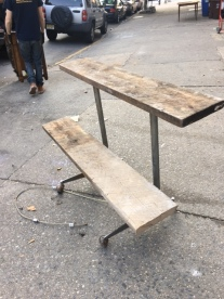 RECLAIMED DOUBLE BENCH 2