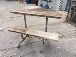 RECLAIMED DOUBLE BENCH