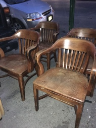 SOLID WOOD LAWYER BANKER BARREL CHAIRS