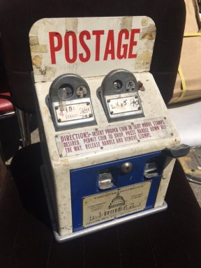 VINTAGE POSTAGE STAMP MACHINE