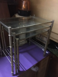 3 METAL NESTING TABLES
