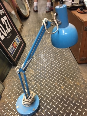 BLUE MID CENTURY MODERN ARTICULATING LAMP