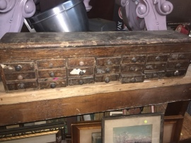 JEWELERS WOOD DRAWER CABINET