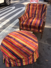LOVE SEAT AND HASSACK